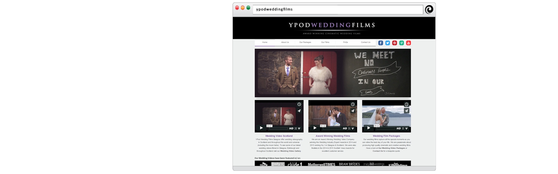 YPod Media Web Design Glasgow Scotland Slider - YPod Wedding Films