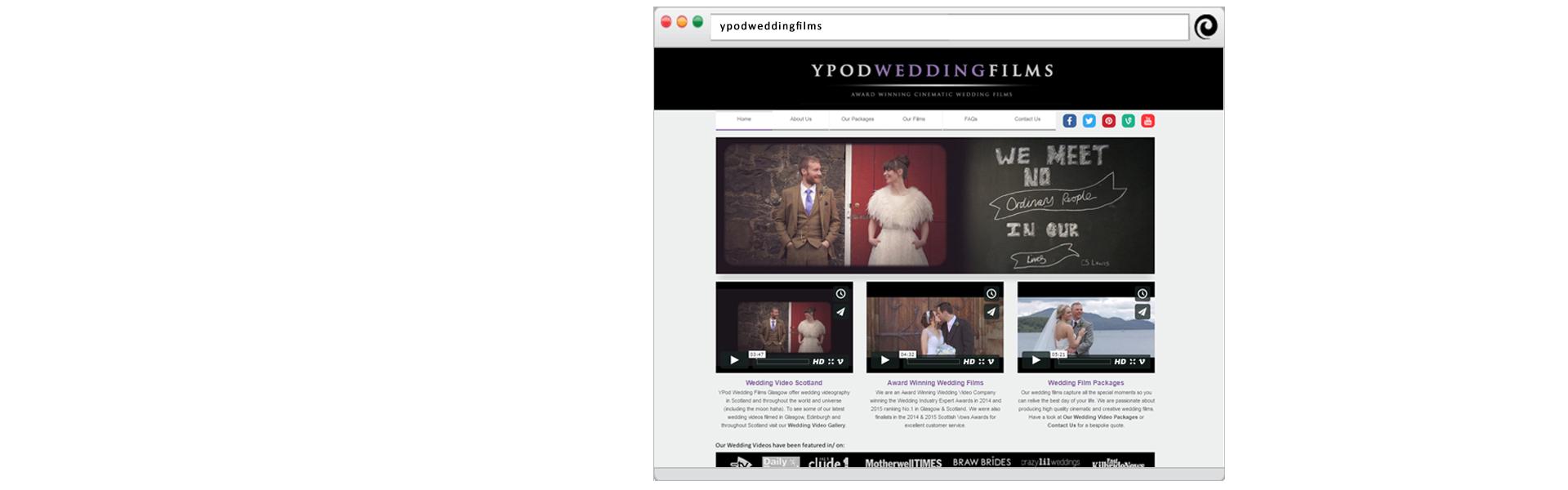 YPod Media Web Design Glasgow Scotland Slider - YPod Wedding Films